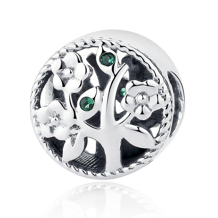 Talisman din argint Beautiful Green Tree