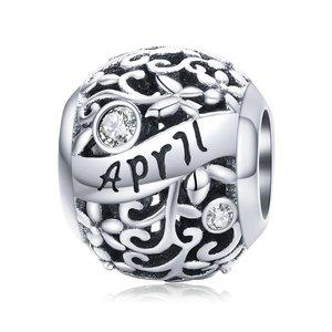 Talisman din argint Birthday Stone April