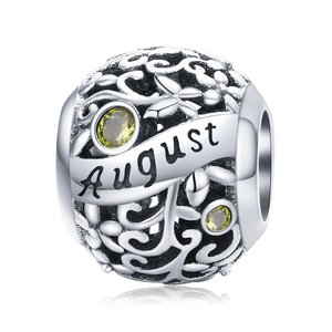 Talisman din argint Birthday Stone August