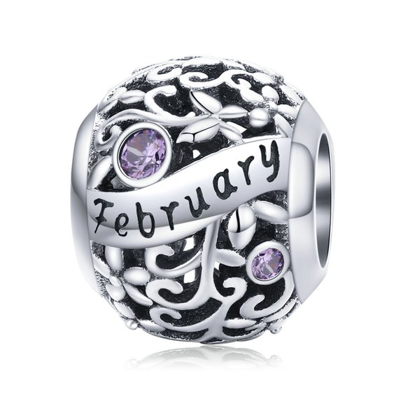 Talisman din argint Birthday Stone February