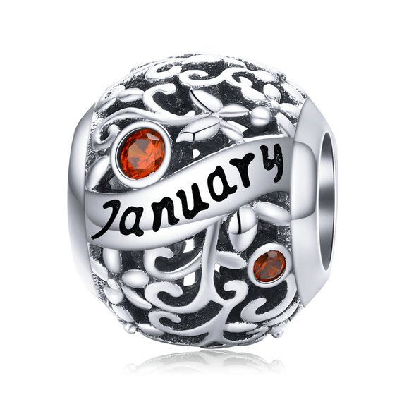 Talisman din argint Birthday Stone January
