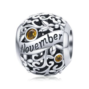 Talisman din argint Birthday Stone November