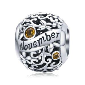 Talisman din argint Birthday Stone November
