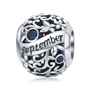Talisman din argint Birthday Stone September