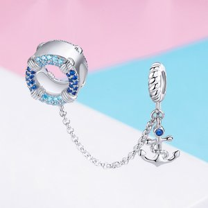 Talisman din argint Blue Anchor Chain