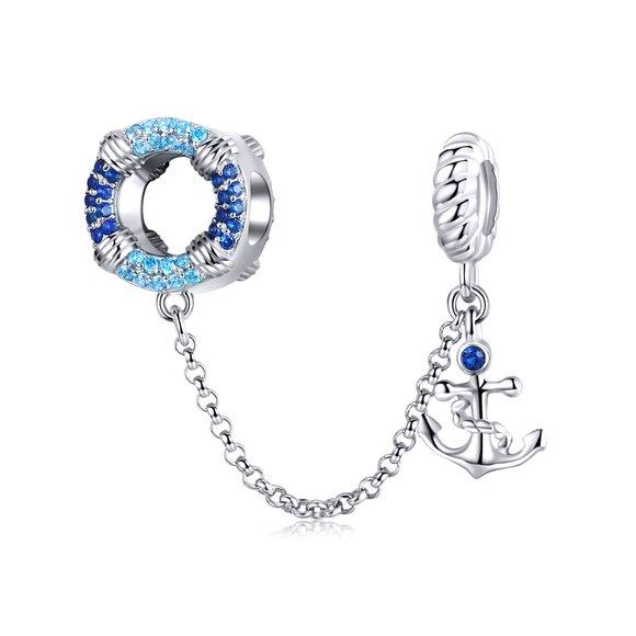 Talisman din argint Blue Anchor Chain
