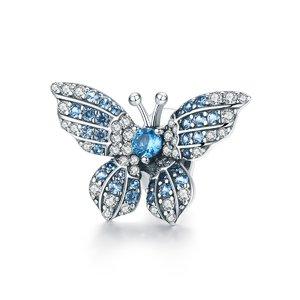 Talisman din argint Blue Butterfly Bead