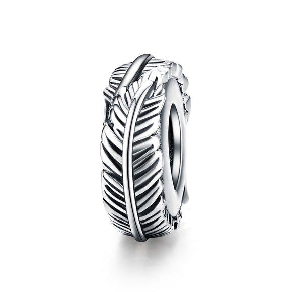 Talisman din argint Bohemia Feather