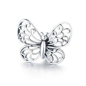Talisman din argint Butterfly Bead