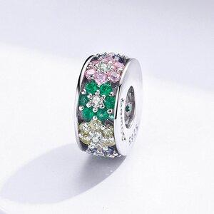 Talisman din argint Colored Flowers