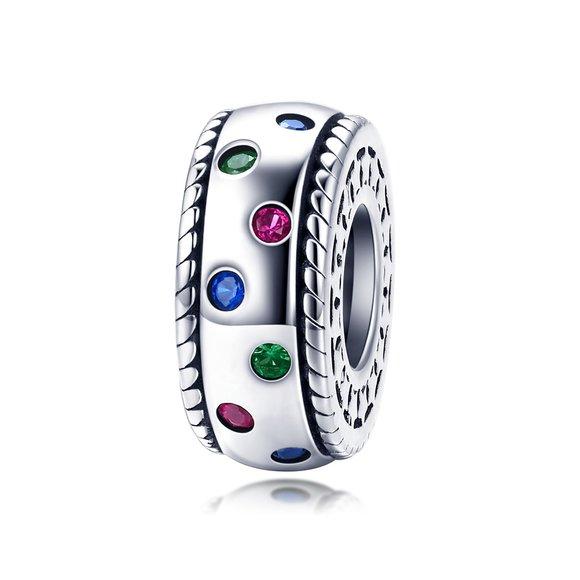 Talisman din argint Colorful Spacer Charm