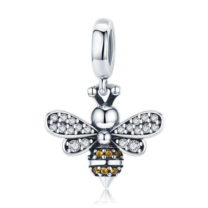 Talisman din argint Crystal Bee poza 2021