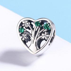 Talisman din argint cu Copacel Verde