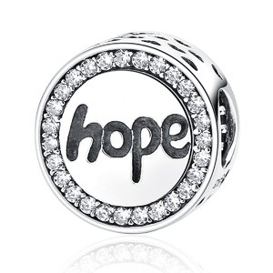 Talisman din argint cu Cristale si Speranta