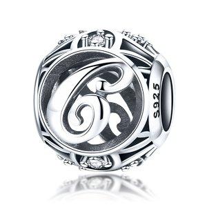 Talisman din argint cu Litera C si cristale