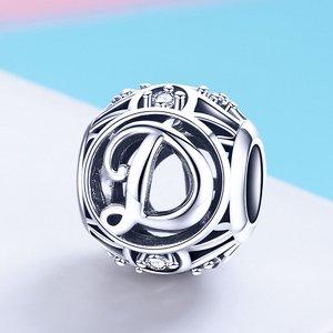 Talisman din argint cu Litera D si cristale