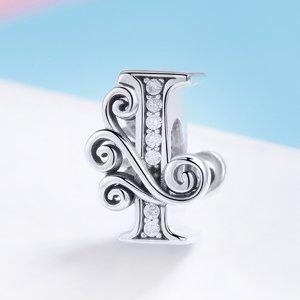 Talisman din argint cu Litera I din Poveste