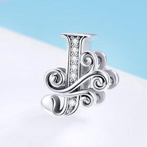 Talisman din argint cu Litera J din Poveste
