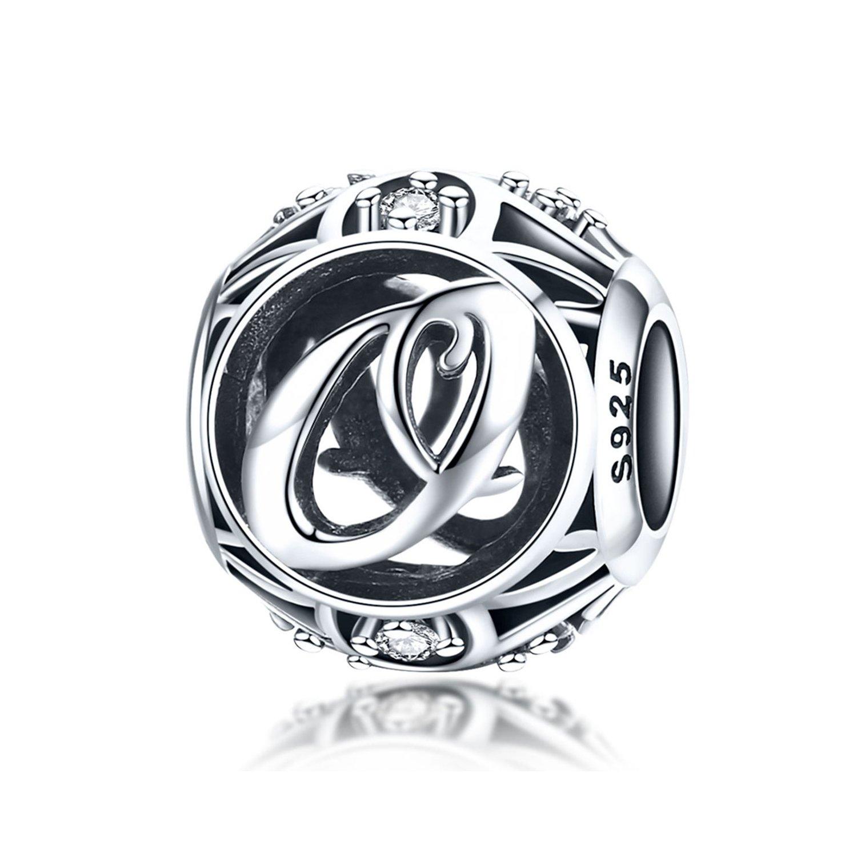 Talisman din argint cu Litera O si cristale