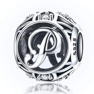 Talisman din argint cu Litera P si cristale