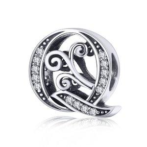 Talisman din argint cu Litera Q din Poveste