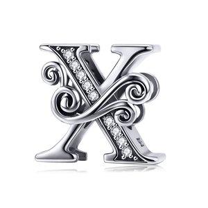 Talisman din argint cu Litera X din Poveste