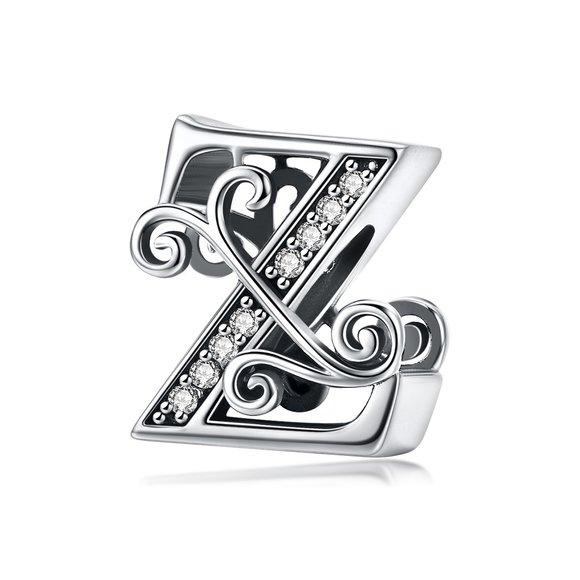 Talisman din argint cu Litera Z din Poveste