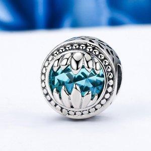 Talisman din argint cu Monstrulet si Sticla Albastra