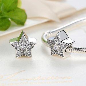Talisman din argint cu Stea si Cristale
