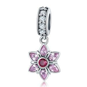 Talisman din argint cu Stea si Cristale roz