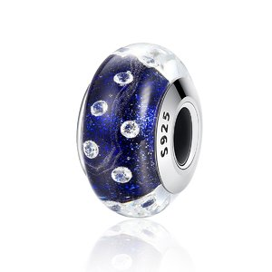 Talisman din argint cu sticla Galaxy Dew Drops
