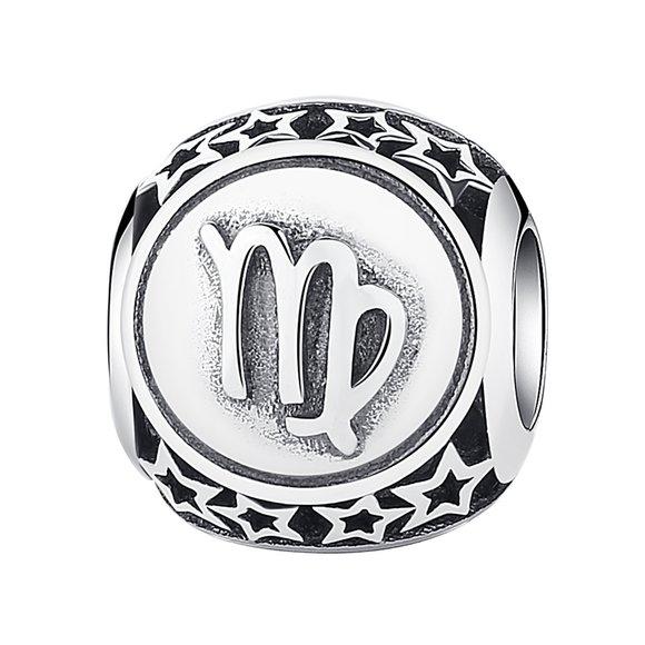 Talisman din argint cu Zodia Fecioara