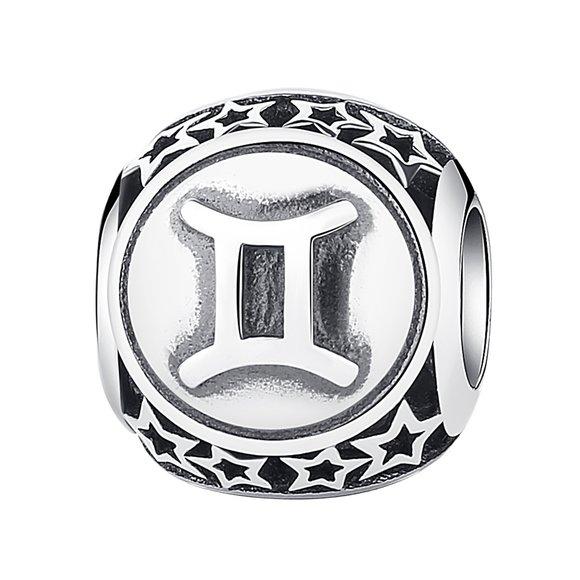 Talisman din argint cu Zodia Gemeni