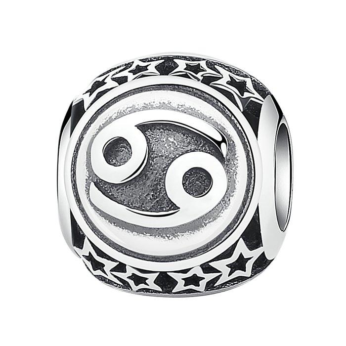 Talisman din argint cu Zodia Rac poza 2021