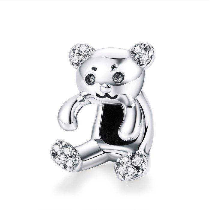 Talisman din argint Cute Bear poza 2021