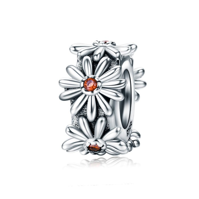 Talisman din argint Daisy Flower poza 2021