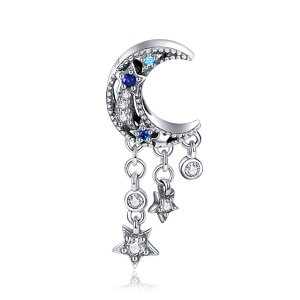 Talisman din argint Dangle Moon and Stars