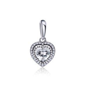 Talisman din argint Dazzling Heart Charm