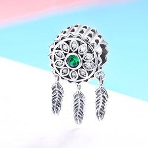 Talisman din argint Dream Catcher green