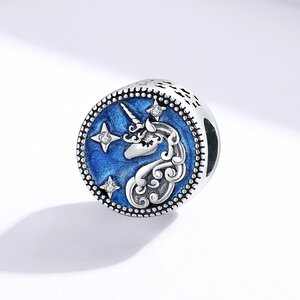 Talisman din argint Dreamy Unicorn