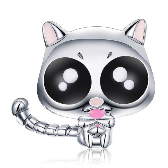 Talisman din argint Funny Cat Eyes