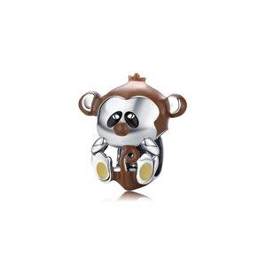 Talisman din argint Funny Monkey