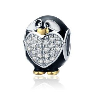 Talisman din argint Funny Penguin