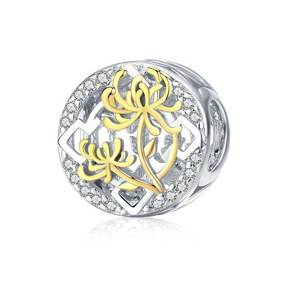 Talisman din argint Golden Lotus