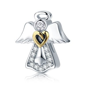 Talisman din argint Guardian Angel Heart