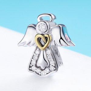 Talisman din argint Guardian Angel Heart