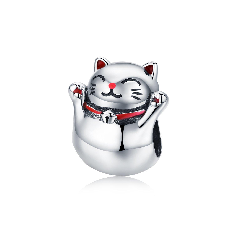 Talisman din argint Guardian Cat poza 2021