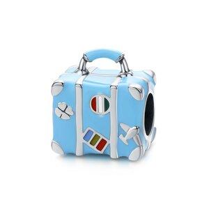 Talisman din argint Happy Blue Suitcase