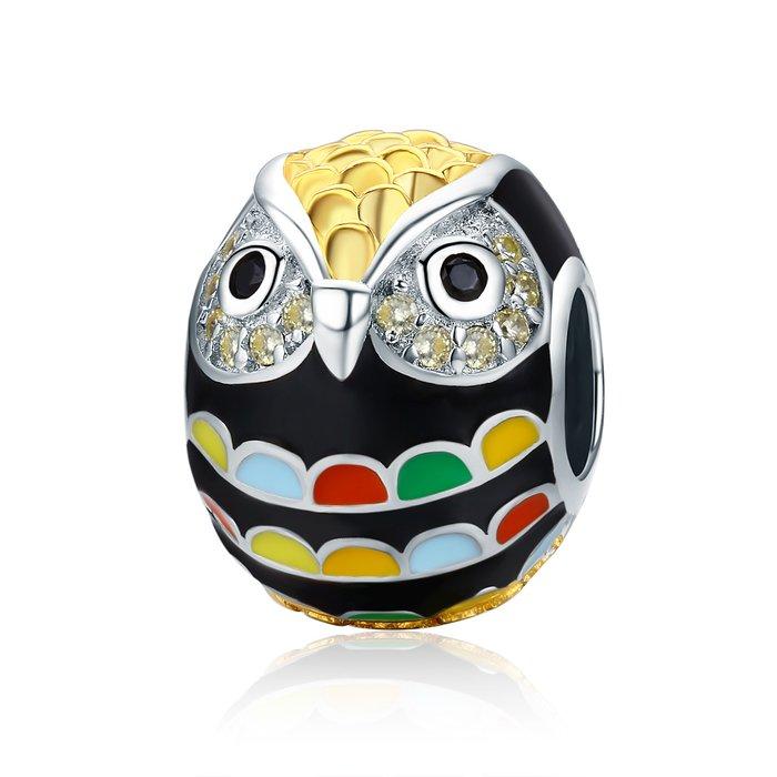 Talisman din argint Happy Owl poza 2021