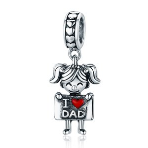 Talisman din argint I Love Dad - Girl